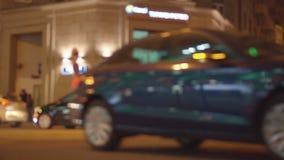 Movimento de luzes borradas e defocused colorido difundido do twinkling vídeos de arquivo