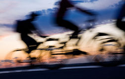 Movimento dei bicyclists Fotografie Stock