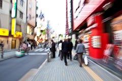 Movimento dei treets della città di Tokyo Fotografia Stock