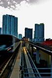 Movimento del treno Fotografia Stock Libera da Diritti