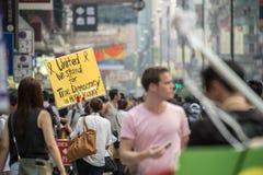 Movimento dell'ombrello in Hong Kong fotografie stock libere da diritti