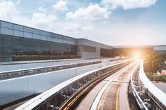 Movimento della ferrovia ad alta velocità immagine stock