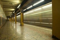 Movimento della metropolitana Fotografie Stock
