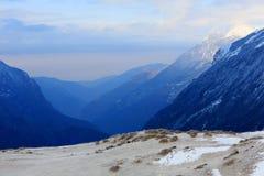 Movimento delle nuvole sulle montagne, Himalaya Fotografia Stock