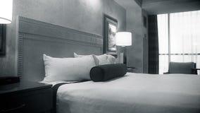 Movimento denominado vintage através da sala de hotel video estoque