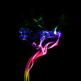 Movimento di fumo variopinto Fotografia Stock