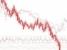 Movimento di prezzi di recessione Fotografie Stock