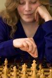 Movimento di scacchi Fotografia Stock