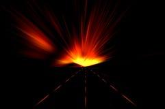 Movimento di velocità sulla strada di notte Fotografia Stock