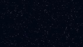 Movimento dianteiro estrelas pequenas de muitas de um cosmos ilustração stock
