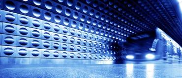 Movimento dinâmico do trem subterrâneo Fotografia de Stock