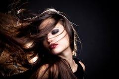 Movimento do cabelo Fotografia de Stock