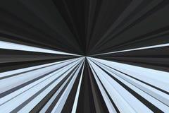 Movimento do crepúsculo da luz do carro no tom dramático O sumário irradia o fundo Teste padrão colorido do feixe das listras Mod ilustração do vetor