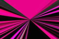 Movimento do crepúsculo da luz do carro no tom dramático O sumário irradia o fundo Teste padrão colorido do feixe das listras Ilu ilustração do vetor