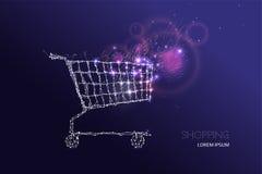 Movimento do efeito com carrinho de compras Fotografia de Stock