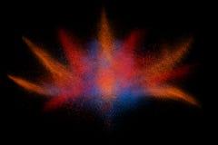 Movimento do gelo do pó colorido que explode ilustração do vetor