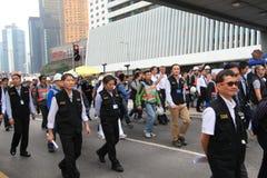 Movimento do guarda-chuva de Admiralty em Hong Kong Imagem de Stock