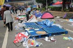 Movimento do guarda-chuva de Admiralty em Hong Kong Imagens de Stock