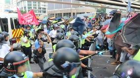Movimento do guarda-chuva em Hong Kong video estoque