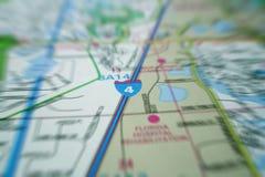 Movimento do mapa Fotografia de Stock Royalty Free