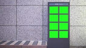 Movimento do quadro de avisos verde grande da tela ao lado da cadeira vídeos de arquivo