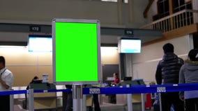 Movimento do quadro de avisos verde para seu anúncio video estoque