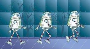 Movimento do robô Fotografia de Stock