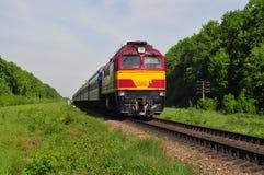 Movimento do trem de passageiros Imagens de Stock
