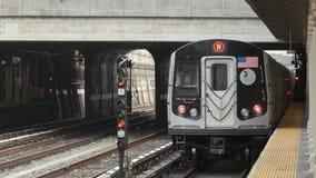 Movimento do trem Metro de New York video estoque