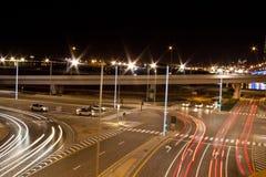 Movimento do veículo em estradas transversaas Imagem de Stock Royalty Free
