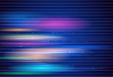 Movimento e mosso ad alta velocità sopra fondo blu scuro Futuristico, ciao concetto di tecnologia di tecnologia illustrazione di stock