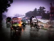 Movimento em um dia chuvoso Imagem de Stock Royalty Free