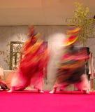 Movimento giapponese dei danzatori Immagine Stock Libera da Diritti