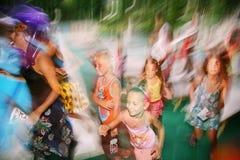 Movimento giovanile della discoteca Fotografia Stock