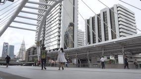 Movimento lento di Bangkok Skywalk video d archivio