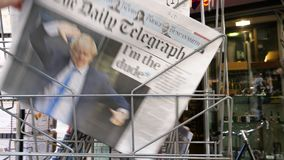 Movimento lento POV Boris Johnson o jornal de Daily Telegraph filme