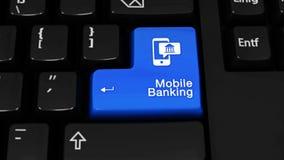 212 Movimento móvel da rotação da operação bancária no botão do teclado de computador ilustração do vetor