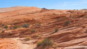 Movimento na garganta vermelha da rocha da área da reserva nacional, Nevada State In Mojave Desert imagens de stock royalty free