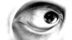 Movimento oculare rapido stock footage