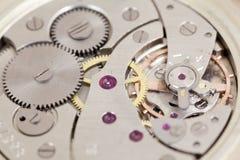 Movimento a orologeria dell'orologio fotografia stock libera da diritti