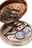 Movimento a orologeria di vecchi orologi da tasca Immagini Stock Libere da Diritti