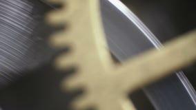 Movimento a orologeria filmato sotto un microscopio stock footage