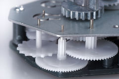 Movimento a orologeria semplice con gli ingranaggi di plastica Immagine Stock