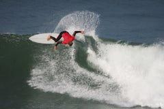 Movimento praticante il surfing Immagine Stock