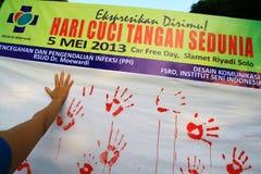 Movimento que Handwashing Fotos de Stock Royalty Free