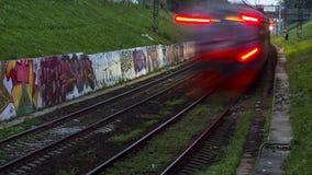movimento rápido de trem de estrada de ferro filme