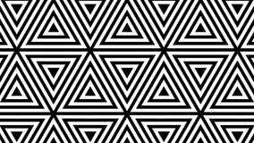 Movimento rítmico hipnótico de formas preto e branco geométricas ilustração stock