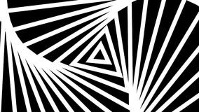 Movimento rítmico hipnótico de formas preto e branco geométricas ilustração do vetor