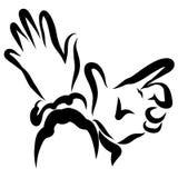 Movimento sensual e expressivo da mão, homem e mulher ilustração do vetor