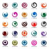 Movimento a spirale nella figura del cerchio. Elementi di disegno Immagini Stock Libere da Diritti